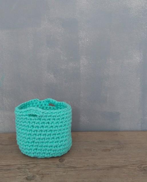 Cesto de Croche Verde de Malha Ecológica